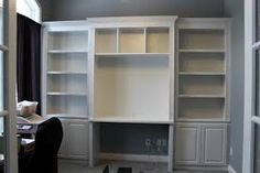 bookcase with desk - Google Search