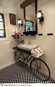 Bicycle Into Sink Stand-