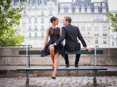 Paris photographer portrait of a couple in overcast weather
