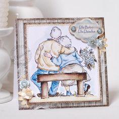 dzień dziadka,dzień babci,kartka,kolorowanka - Kartki okolicznościowe - Akcesoria Art Impressions, Anniversary Cards, Decorative Boxes, Scrapbooking, Inspiration, Ideas, Cards, Art Prints, Bday Cards