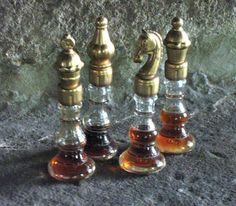 Vintage Mary Chess Perfume Bottles  I have the Queen, the Knight and the Pawn.