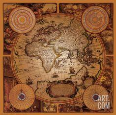 Antique Map, Cartographica I Art Print at Art.com