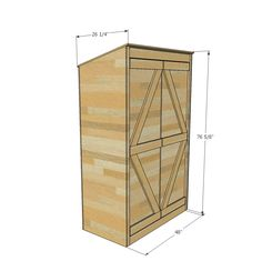 Ana White | Small Outdoor Shed or Closet Converted into Smokehouse - DIY Projects
