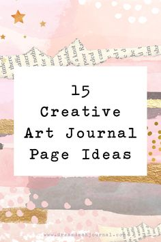 Creative art journal page ideas are here! Get art journal inspiration with these 15 gorgeous art journal pages- each one with it's own unique aesthetic! #artjournal #journalpages #journaling #artjournaling #art #artprojects #artideas Art Therapy Projects, Art Projects, Art Journal Pages, Art Journaling, Handwritten Quotes, Easy Paintings, Art Journal Inspiration, Art Techniques