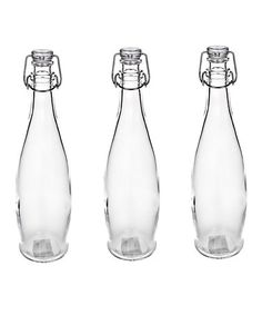 Another great find on #zulily! Soho Glass Hermetic Bottle - Set of Three #zulilyfinds