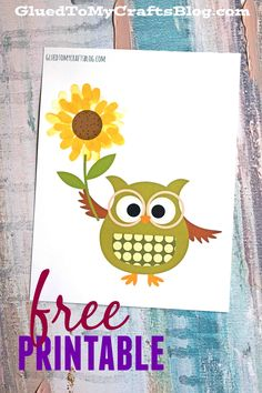 Thumbprint Sunflower - Kid Craft Idea w/free printable template, perfect for spring!