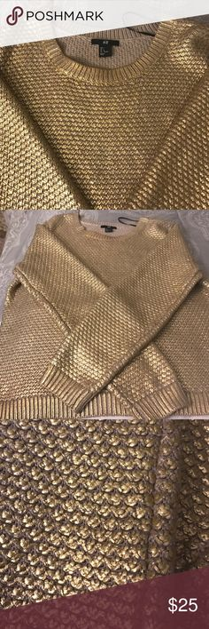 Pull-over gold Matt Excellent condition worn one time H&M Other