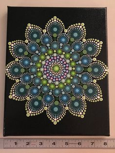 Hand Painted Mandala on Canvas Meditation Mandala Calming