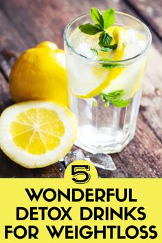 5 wonderful detox drinks for weight loss exercise! Full Body Detox, Detox Your Body, Detox Tips, Detox Recipes, Weight Loss Detox, Weight Loss Drinks, Detox Day, Cleanse Detox, Natural Detox Drinks