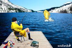 Reeling it in.    Fishing themed dress socks by #Soxfords. #style