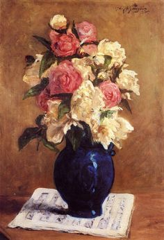 Bouquet of Peonies on a Musical Score, 1876. Paul Gaugin.
