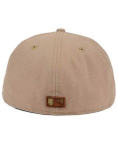 New Era New York Yankees The Logo of Leather 59FIFTY Fitted Cap - Tan Beige  7 d1bccdcc7937