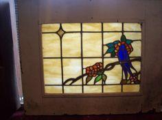 Stained Glass Bird on Branch Window SG 1588   eBay