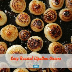 Easy Roasted Cipollini Onions Recipe Side Dishes with unsalted butter, cipollini onions, kosher salt, freshly ground black pepper Meat Appetizers, Thanksgiving Appetizers, Thanksgiving Recipes, Thanksgiving Sides, Christmas Appetizers, Vegetable Dishes, Vegetable Recipes, Vegetarian Recipes, Cooking Recipes