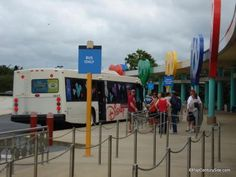 Using the Walt Disney World Bus System from Pop Century Resort to the Parks, This is a free service to Guests staying at any Disney resort. Disney World Florida, Disney World Vacation, Disney Vacations, Disney Trips, Disney Parks, Walt Disney World, Florida Vacation, Disney Cruise, Disney Pop