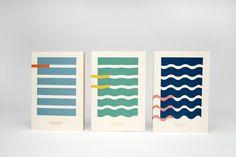 Hemingway and the Sea - minimalist book cover design by Kajsa Klaesén #minimal #packaging #book