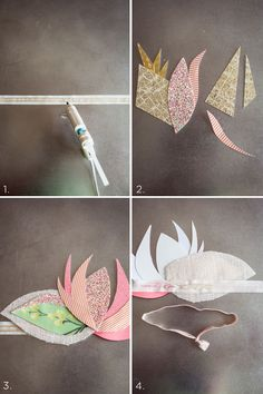 DIY Paper + Fabric Crowns | Sweet Louise Photography for Camille Styles