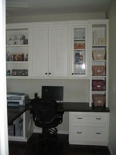 Beautiful Custom Built-in Home Office