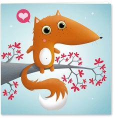 Faire part de naissance MKT4 Maître Renard Fox Illustration, Game Concept Art, Cute Fox, Retro Ads, Cute Characters, Kawaii, Cute Pictures, Book Art, Character Design
