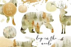 Forest Animal Boho Autumn Clipart (Graphic) by daphnepopuliers · Creative Fabrica Paper Background, Background Images, Digital Decorations, Ink Splatter, Graphic Design Company, Photography Pricing, Photography Tutorials, Autumn Forest, Autumn Fall