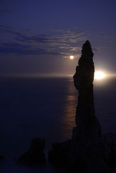 Candlestick Moonrise, South Korea, by Leigh MacArthur, on Flickr.