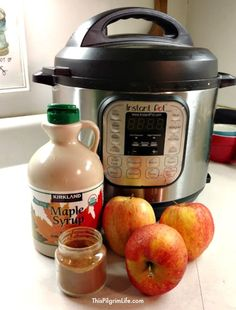 An EASY recipe to make cinnamon apples in the Instant Pot. Three ingredients and just 10 minutes to cook!