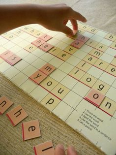 Free printable sight word Scrabble game for Kindergartners
