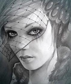 #widow #woman #sad #cry #tears #makeup #beauty #cute #dark #shadow  #gothicgirl #art #pencildrawing #sketch #octubre #viudanegra #luto #velo #guapa #rimelcorrido #triste #arte #retrato #dibujo #lapiz  #mirada #ojos #lágrimas www.facebook.com/antonio.ayala.castejon.oficial