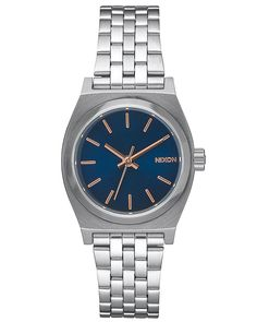 NIXON SMALL TIME TELLER WATCH - NAVY ROSE GOLD