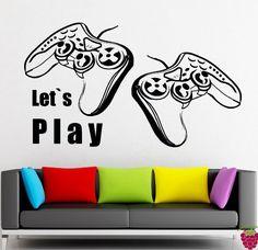 Wall Stickers Vinyl Decor Video Games Joystick Xbox PlayStation Game Room Decor