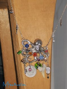 Awesome Unique Upcycled OOAK Steampunk Chtulu Pride Necklace (April Fools Listing) $500