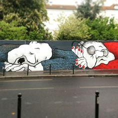 Ella & pitr - street art rue menilmontant paris 20 mai 2015