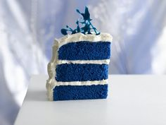 Royal Blue Velvet Cake!  Fun for a baby boy shower or spring party!