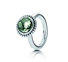 Pandora - Ring Quarz Grün Silber- Größe 50