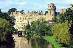 Warwick Castle - England.  Beautiful grounds as well with peacocks roaming the gardens.