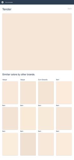 Tender, Behr. Click the image to see similiar colors by other brands.