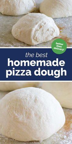 The Best Homemade Pizza Dough Recipe, Easy Pizza Dough Recipe, Puzza Dough Recipe, Kitchenaid Mixer Pizza Dough Recipe, Homeade Pizza Dough, Italian Pizza Dough Recipe, Homemade Pizza Sauce, Homemade Pizza Rolls, Homemade Sandwich