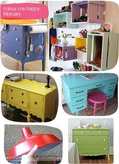 Restored furniture/ wall idea