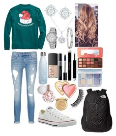 """""""School 48"""" by ella-goodness on Polyvore featuring rag & bone/JEAN, S'well, The North Face, Converse, EWA, Michael Kors, Cartier, Mémoire, Too Faced Cosmetics and Anastasia Beverly Hills"""