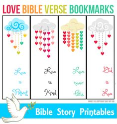 Love Bible Verse Bookmarks for Kids