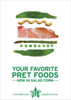 pret a manger ad Dog Food Recipes, Salad Recipes, Healthy Recipes, Sandwich Bar, Sandwiches, Sandwich Packaging, Coffee Shop Bar, Restaurant Branding, Food Now