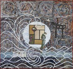 2013 International Quilt Covention Africa in Johannesburg, South Africa. The winner of the Free to Express Challenge is Despair - off the Tatami Mats by Sue Stevenson Tatami Mat, Quilt Art, South Africa, City Photo, Challenge, Quilts, Free, Home Decor, Decoration Home