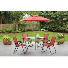 Mainstays Searcy Creek 6-Piece Folding Outdoor Dining Set
