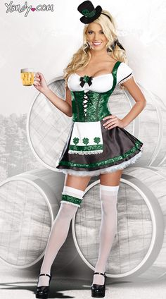Purchase St. Patrick's Day costumes like this Lady Luck at Yandy! #Yandy