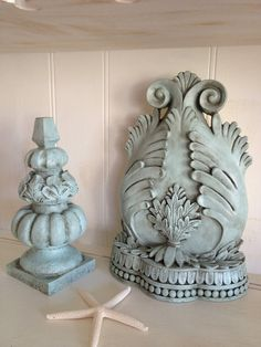 Bookend and Finial Set Shabby Chic Bookend and by NotJustSigns, $34.99