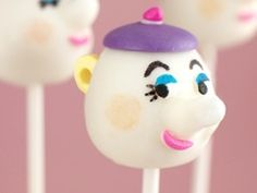 Mrs. Potts Cake Pop for a Disney Beauty and the Beast party