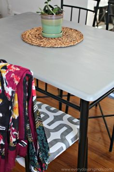 How to update a boring dining table using Country Chic Paint in Pebble Beach and CCP's Tough Coat. The outcome was amazing and I love the use of the Tough Coat on surfaces. Gives the added protection it needs!
