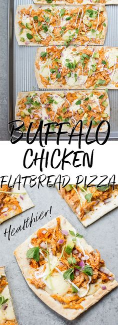 This skinny buffalo chicken flatbread pizza is a lighter way to enjoy the flavor of buffalo chicken wings. If you like it spicy, you'll love this healthy flatbread recipe! Ready in 15 minutes!