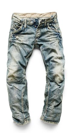 Mens Style Discover G-Star Elwood Jeans Raw Denim, Lässigen Jeans, Ripped Jeans, Denim Fashion, Fashion Outfits, Fashion Tips, Color Fashion, 80s Fashion, G Star Raw Jeans