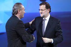 Con el Presidente Mariano Rajoy, en la convención de Valladolid